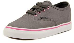 Vans Authentc (multi) Toddler Round Toe Canvas Gray Sneakers.