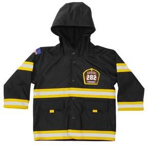 Western Chief Toddler Boy F.D.U.S.A. Firechief Rain Coat Black