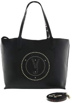 Versace EE1VRBBQB Black Tote Bag W/ detachable storage pouch and shoulder strap