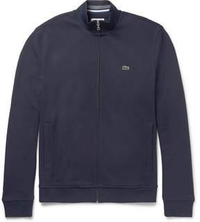 Lacoste Fleece-Back Cotton-Blend Piqué Zip-Up Sweatshirt