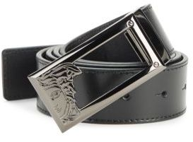 Solid Logo Leather Belt