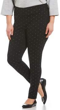 Allison Daley ADX SLIMS by Plus Silver Dot Print Leggings