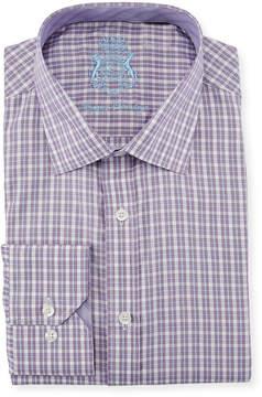 English Laundry Classic-Fit Check Dress Shirt, Purple
