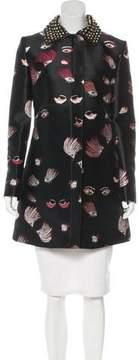 Giamba Embroidered Knee-Length Coat
