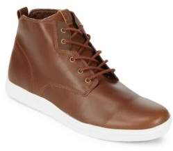 Ben Sherman Leather Mid Top Sneaker Boots