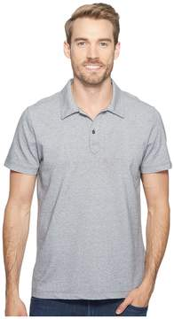 Agave Denim Short Sleeve Polo Italian Pique in Heather Men's Clothing