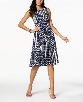 Alfani Pleated Fit & Flare Midi Dress, Created for Macy's