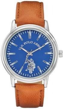 U.S. Polo Assn. Men's Leather Watch - USC50480KL