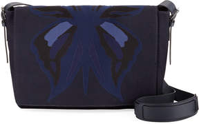 Valentino Flap-Top Camu Butterfly Messenger Bag