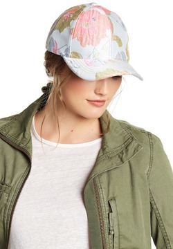 Betsey Johnson Floral Embroidered Baseball Cap