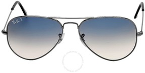 Ray-Ban Original Aviator Polarized Blue Gray Gradient Sunglasses