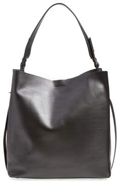 Allsaints 'Paradise North/south' Calfskin Leather Tote - Black