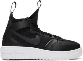 Nike Black and White Air Force 1 Mid Ultraforce Sneakers