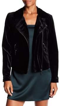 Bagatelle Asymmetrical Velvet Biker Jacket