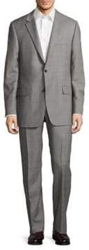 Hickey Freeman Regular-Fit Millburn Wool Windowpane Suit
