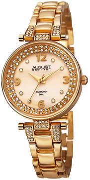 August Steiner Womens Gold Tone Strap Watch-As-8137yg