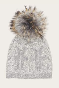 Frye | Logo Pom Hat | Light grey