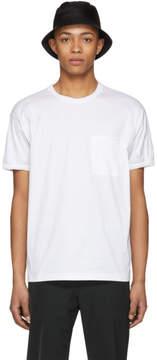 Prada White Poplin Tech T-Shirt