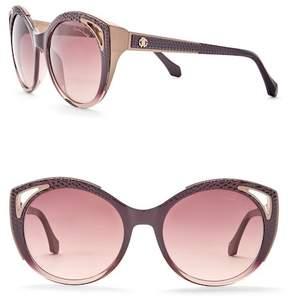 Roberto Cavalli 56mm Acetate Cat Eye Sunglasses