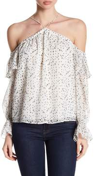 1 STATE 1.State Cold Shoulder Ruffle Blouse