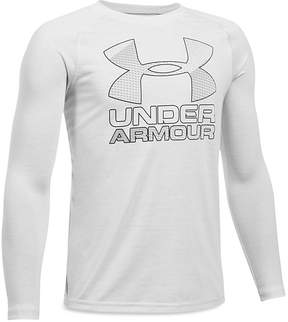 Under Armour Boys' Big Logo Long-Sleeve Performance Tee - Big Kid
