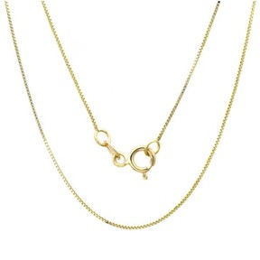 Alpha A A 14kt Yellow Gold Classic Box Link Necklace, 16