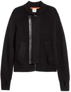 H&M Rib-knit Bomber Jacket