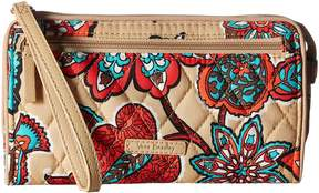 Vera Bradley RFID Front Zip Wristlet Wristlet Handbags - DESERT FLORAL - STYLE