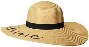 San Diego Hat Company PBL3091OS Paperbraid w/ Hello Sunshine Verbiage Caps