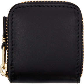 Comme des Garcons Wallets Black Small Leather Zip Around Pouch