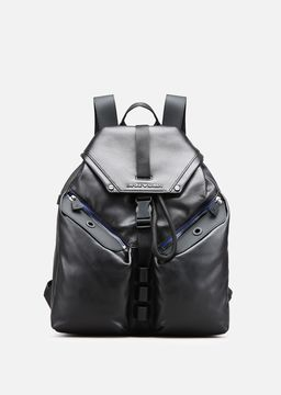 Emporio Armani rubber-effect nappa backpack