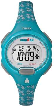 Timex Women's Ironman Essential 10 Mid-Size Teal Watch, Resin Strap