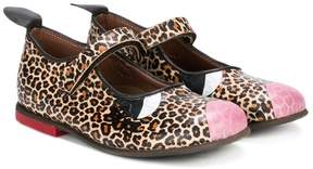 Pépé leopard print ballerinas