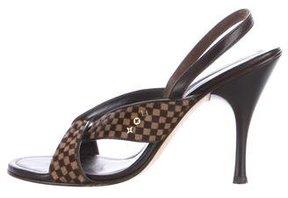 Louis Vuitton Damier Ebene Ponyhair Sandals