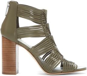 Sole Society Kenton Block Heel Woven Sandal