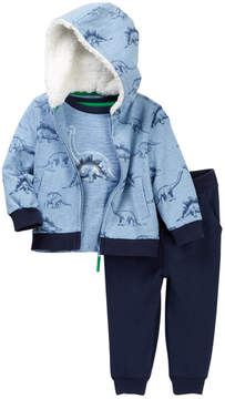 Little Me Dino 3-Piece Jogger Set (Baby Boys)