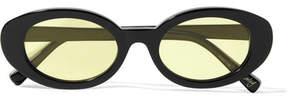 Elizabeth and James Mckinley Oval-frame Acetate Sunglasses - Black