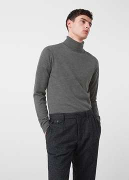 Mango Outlet Turtle neck wool sweater