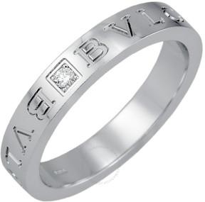 Bvlgari White Gold and Diamond Band Ring 339995