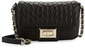 Karl Lagerfeld Women's Agyness Leather Crossbody Bag