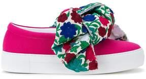 Joshua Sanders floral bow slip-on sneakers