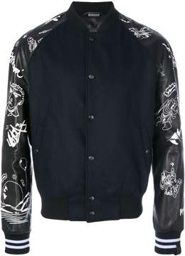 Lanvin embroidered bomber jacket
