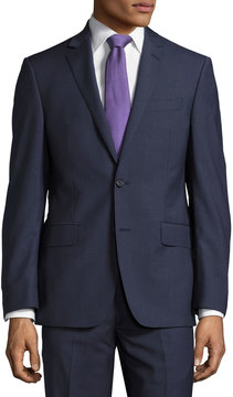 DKNY Check-Print Slim-Fit Two-Piece Suit, Blue