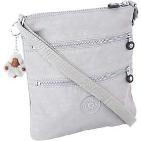 As Is Kipling Nylon Mini Triple Zip Crossbody Bag- Keiko