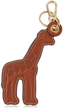 Loewe Giraffe Leather Charm Key Holder