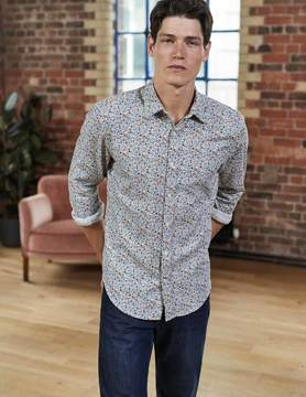 Boden Slim Fit Printed Twill Shirt