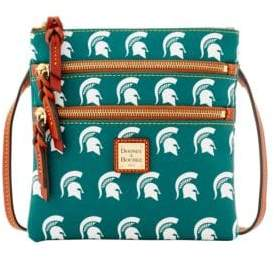 Dooney & Bourke Sports Michigan State Triple Zip Crossbody Bag - GREEN - STYLE