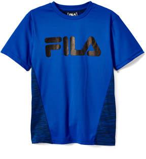 Fila Prince Blue 'Fila' Logo Space-Dye Tee - Boys