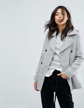 Abercrombie & Fitch Double Breasted Wool Peacoat