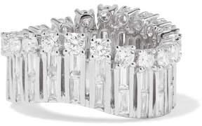 Anita Ko Ava Wave 18-karat White Gold Diamond Ring